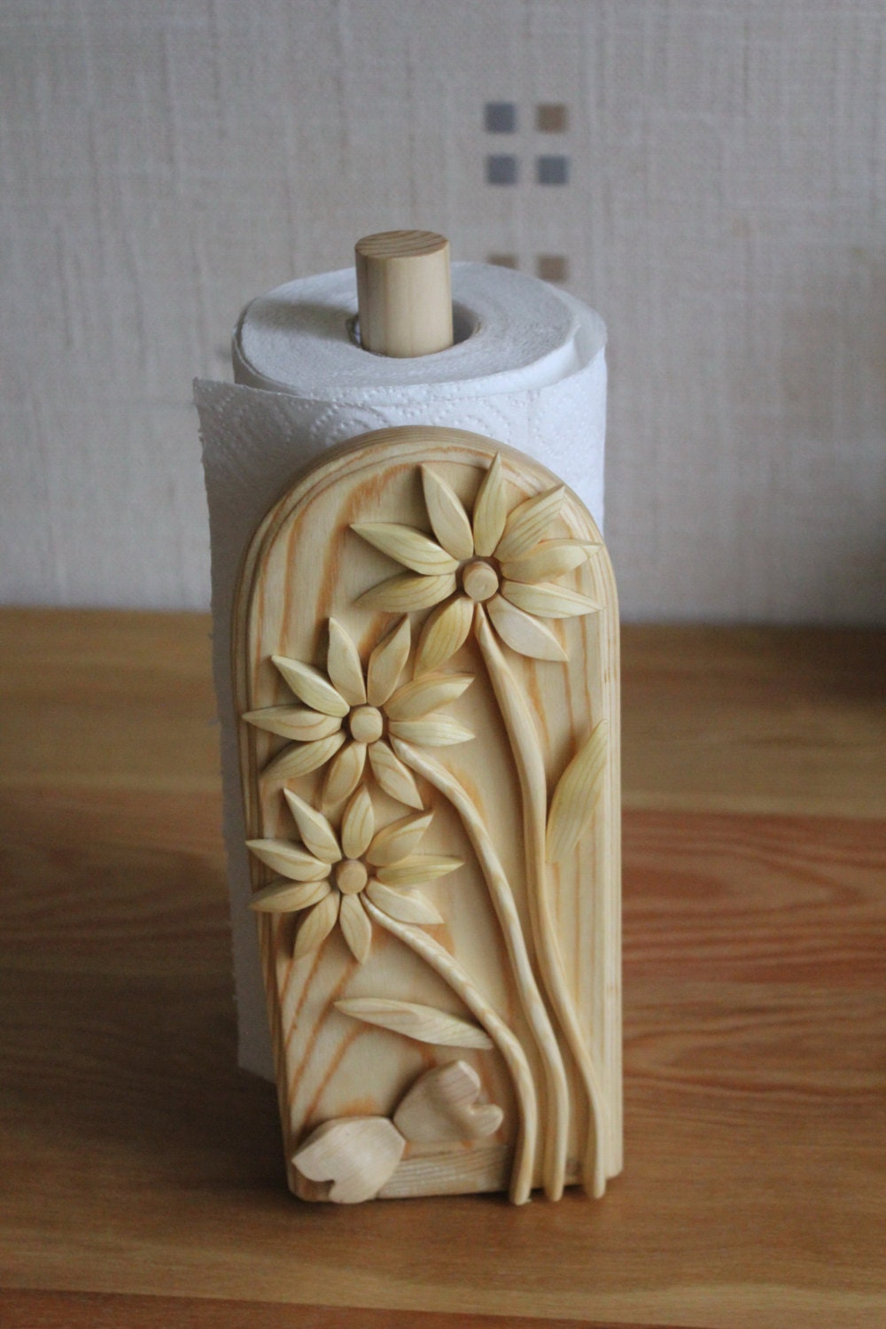 Wooden Paper Towel Holder Paper Roll Holder Wooden Kitchen