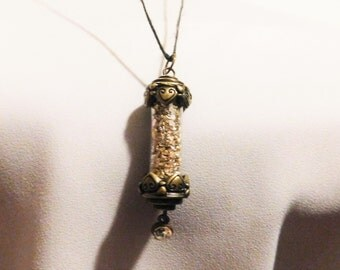 Vintage Fantasy Fairy Dust Black Necklace