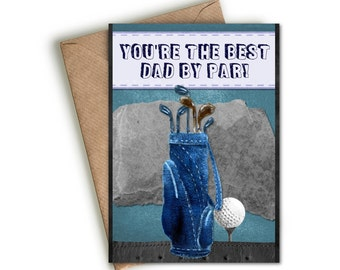 Funny Golf Father's Day Greeting Card for Dad/ INSTANT DOWNLOAD/ Printable/ DIY/ for Dad/ Golf
