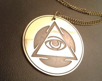 Eye of wisdom amulet, symbol of wisdom talisman