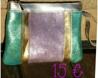 Leather purse. Wallet leather