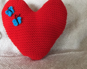 Butterfly heart cushion