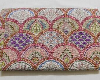 Indian Handmade Kantha Quilt Bedspread Throw Cotton Blanket Gudari Queen,
