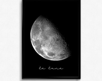 Moon Print, Moon Wall Art, Luna Print, Moon Photo, Full Moon Print, Full Moon Photo, Digital Download, Printable Wall Art