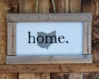 Ohio 'Home' Framed Wall Hanging