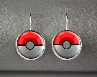 Pokemon earrings, Pokemon jewelry, Pokemon accessories, Pokeball earrings