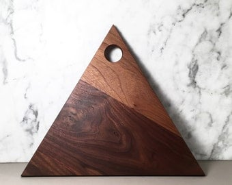 Triangle Walnut Cutting Board Serving Platter