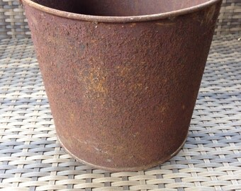 Rusty Galvanized Farm Bucket