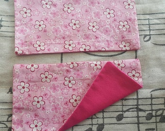 Pink Floral Strap Pads
