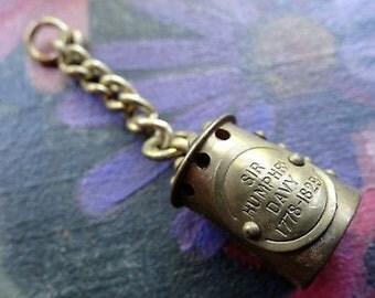 Vintage Miners Davey Lamp Brass gold tone charm/pendant