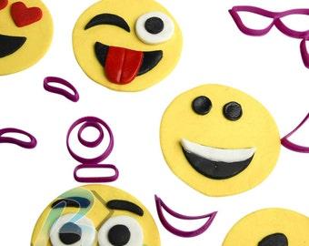 Emojis Full 20pc Set Cookie Fondant Cutter 5cm 7cm 10cm Create Every Emoji