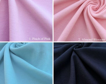 Cotton 1x1 Rib Knit Fabric By the Yard (Wholesale Price Available By the Bolt) USA Made Premium Quality - 1392R - 1 Yard