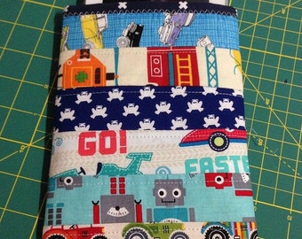 Boys samsung galaxy tab sleeve padded and quilted