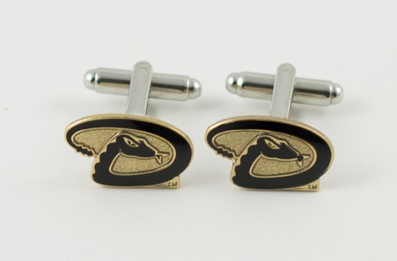 Arizona Diamondbacks Cuff Links -- FREE SHIPPING with USPS First Class Domestic Mail