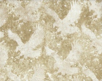 Eagles Fabric...Tonal Eagles on Marbled Cotton Flannel Fabric...39103.