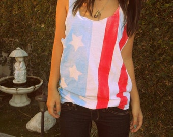 American Flag Fourth Of July Tank