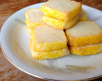 Lemon Jewel Classic Shortbread Cookies