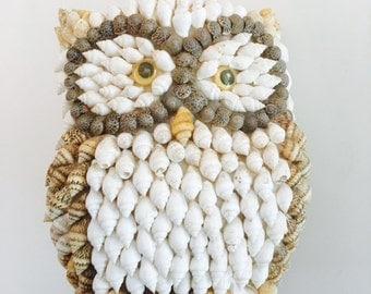 Vintage Owl Shell Sculpture