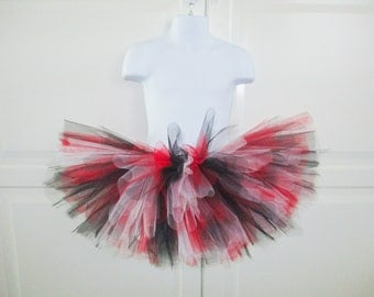 Red, Black and White Tutu - Other Colors Available