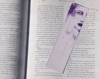 Water Paint Bookmark - Purple