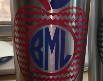 Monogrammed 20 oz Stainless steel Insulated tumbler