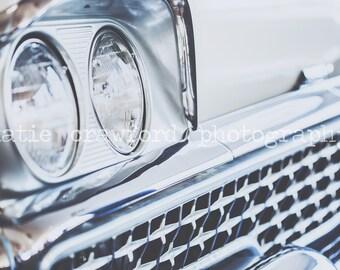 Vintage Car Grill Headlight Photograph Fine Art Print Photography katiecrawfordphoto