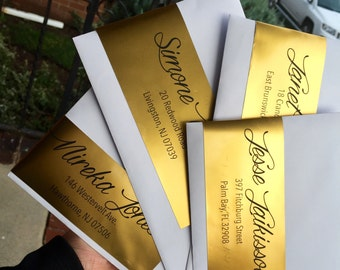 Gold Mailing Labels