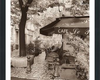 """Alan Blaustein """"Café, Aix en Provence"""" Framed Plexiglass Wall Art"""