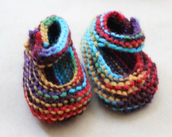 Multicolor Mary Jane Baby Shoes for 6-12 month old babies