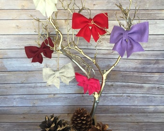Handmade felt ribbon Christmas ornament
