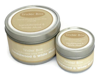 Sandalwood & White Musk Scented Soya Wax Candle