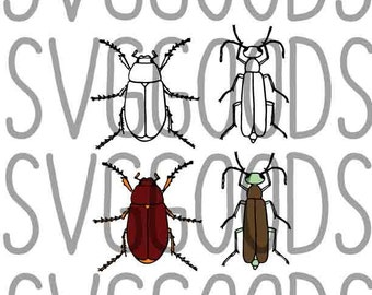Bugs dxf, Beetles dxf, Bug dxf, Beetle dxf, Insect dxf, boys dxf, boy dxf, creepy dxf, summer dxf, paper cut file, vector file (Bugs II)