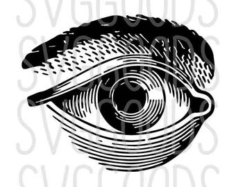 Halloween svg, Eye SVG, Eyeball SVG, Anatomy SVG, line drawing svg, body svg, eyebrow svg, vintage illustration, cut file, cricut