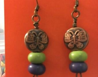 Copper/ purple/ green