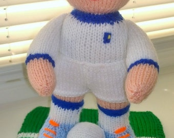 Knitted Football Players (each doll costs 20 GBP)