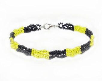 Fan - bracelet football Bundesliga - club bracelet - yellow / black (BS-1317)