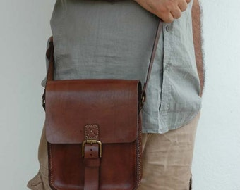 Leather handmade bag, , crossbody bag, İpad bag, etc.