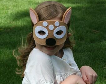 Children's Felt Fawn Mask