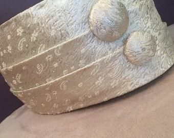 Metallic Button Hat