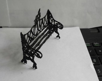 Miniature gothic bench