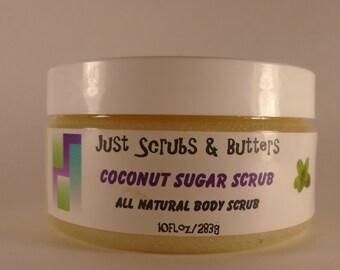 Coconut Sugar Scrub Exfoliating Body Scrub 10oz
