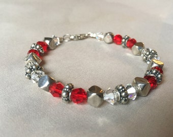 Ruby and Sterling bracelet
