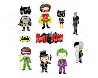 Batman Collection // Robin // Joker // Two Face // Riddler // Catwoman // Penguin // Alfred // Logo // Clipart // Clip Art // Craft // Image