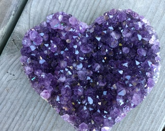 Amethyst Heart Sml~ Hand carved purple sparkling love!