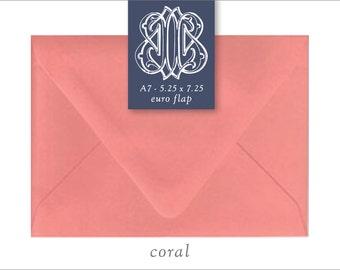 Coral | 10 Blank A7 Euro Envelopes