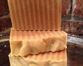 Lemongrass Peppermint Goats Milk all natural handcrafted soap