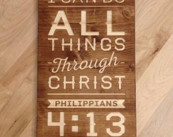 "10"" x 16"" Philippians 4:13 Wall Art"