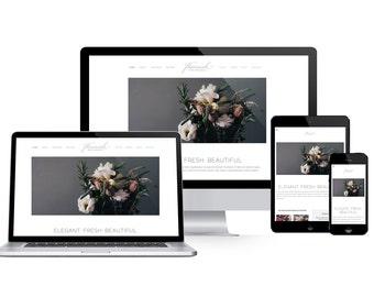 Premade Squarespace Website Template and Installation, Premade Theme, Premade Website