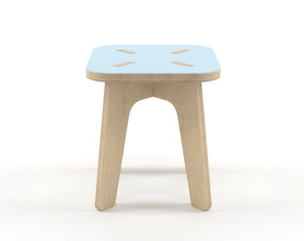 Blue wood stool, wooden step stool, kids furniture, kids stool, wood stools, step stool, toddler stool, gift for boy, gift for girl, nursery