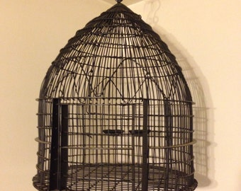 Vintage Wrought Iron Bird Cage/Large
